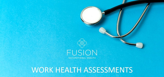 What happens in a work health assessment?