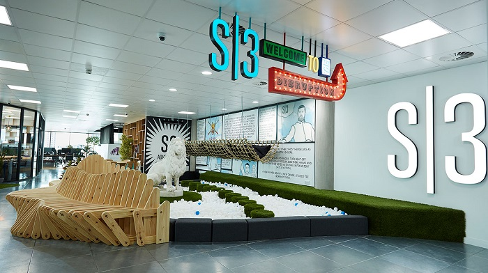 Reception area of S3 Advertising's new office