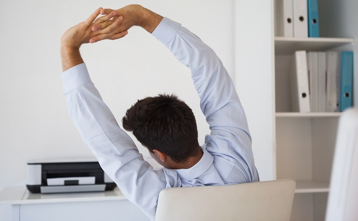 As part of On Your Feet Britain Day, Fusion recommends a few simple desk stretches to help increase flexibility.