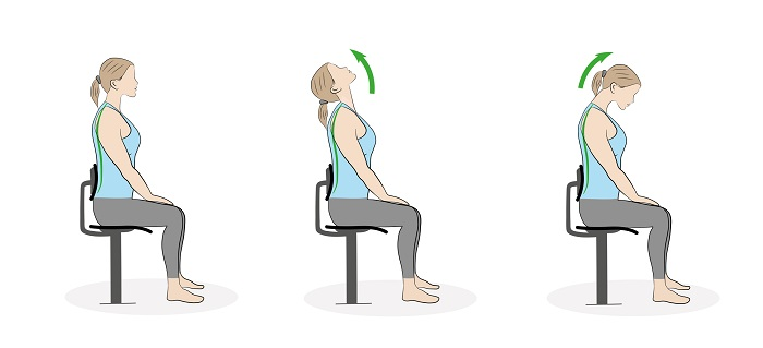 Neck stretches can help to reduce muscle stiffness in the workplace